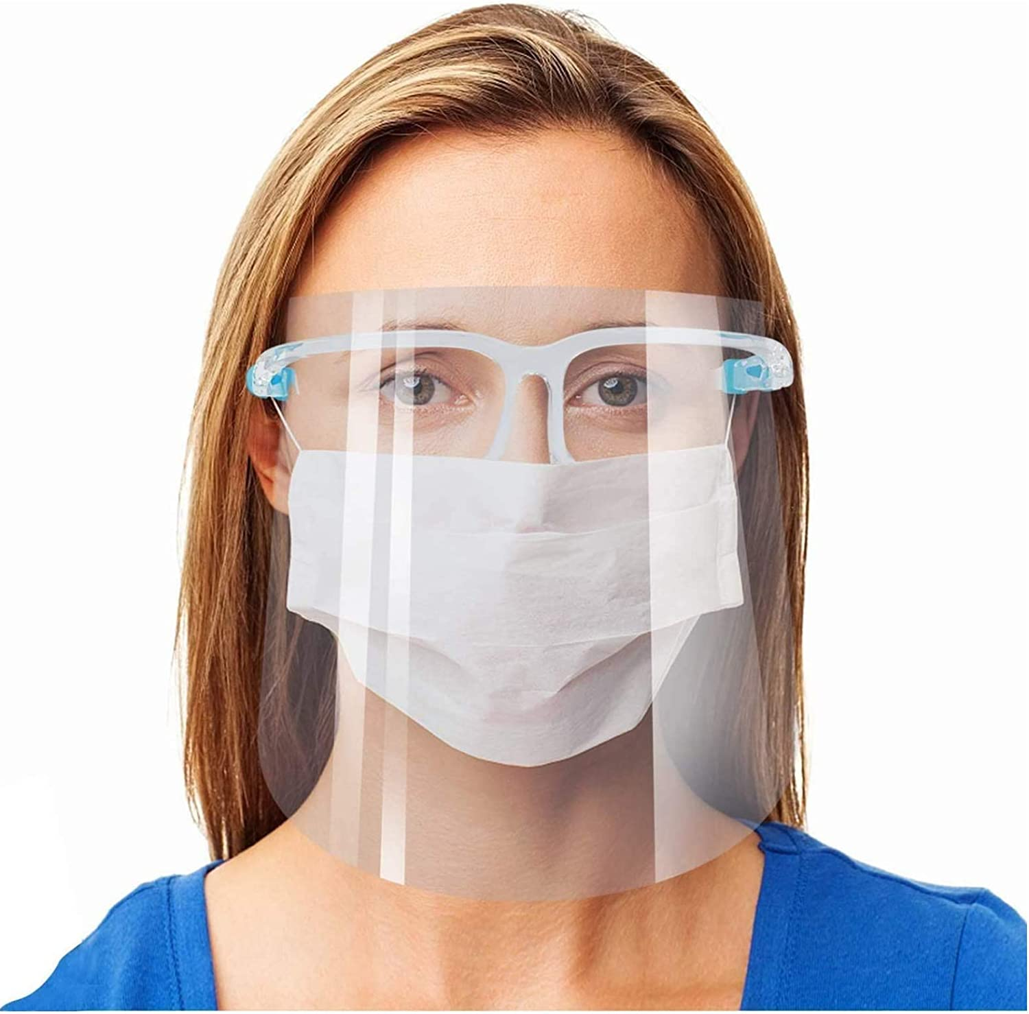 Face Shield Guard Mask Safety Protection With Glasses Reusable Free Shipping USA