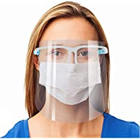 OUNN Safety Face Shield, 2 Pack Reusable Goggle Shield Face Visor Transparent Anti-Fog Layer Protect Eyes from Splash