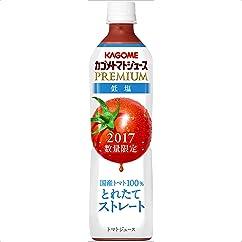 【ドリンクの新商品】カゴメ トマトジュースプレミアム低塩 スマートPET(2017年新物) 720ml×15本