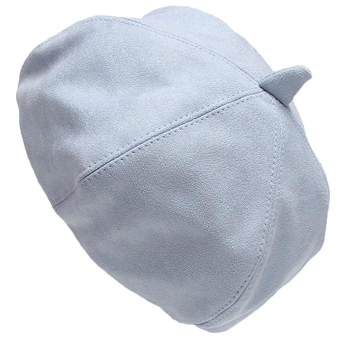 Leisial Cappello da donna Cappello Autunno Cappello Invernale Cappello  ottagonale berretto di tweed di lana Cappello Pittore 8e1eba943d8b
