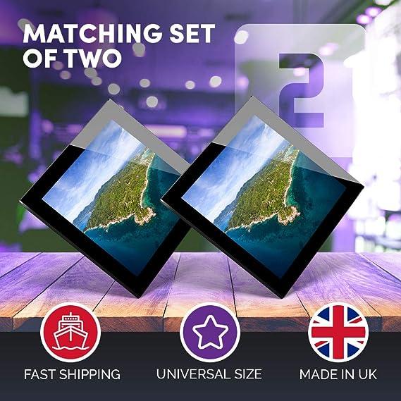 Impresionante juego de 2 posavasos de cristal, vista aérea, KOH ...