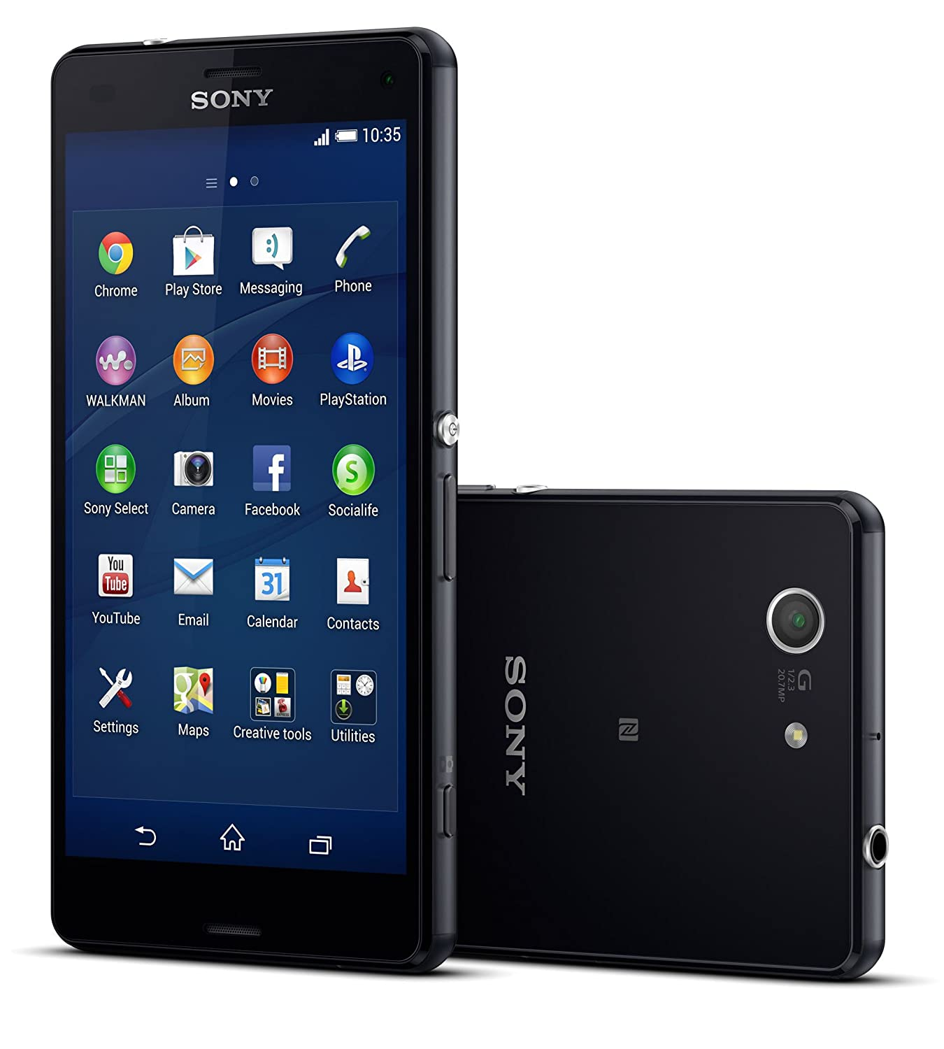 Camera Sony Phone Android amazon com sony xperia z3 compact d5803 16gb 4g lte 4 6 unlocked gsm android smartphone black international versi