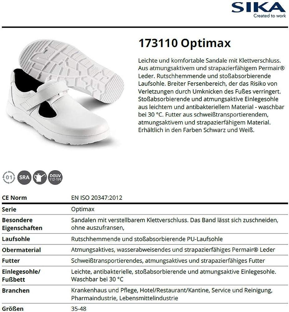 Pharma- und Lebensmittelindustrie Ideal f/ür Krankenhaus und Pflege Sika 173110 Optimax Sandale O1 SRA Service und Reinigung Hotel//Restaurant//Kantine