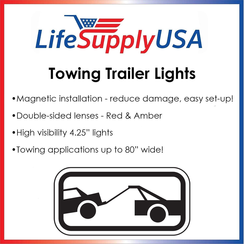 10 LEDs in Amber 5559011764 Flush Mount Marker Lights NEW SUN 2pc LED Clearance Lights 6 Oval LED Trailer Truck Brake Stop Turn Tail Lights