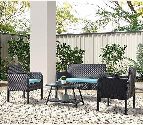 SSLine 4PCS Outdoor Chair Sofa Set