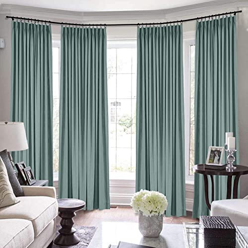 TWOPAGES Pinch Pleated Extra Long Curtain