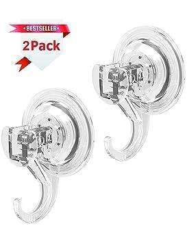 GlobaLink® Gancho Ventosa de Pared 2 Piezas Colgador Toallero Perchero  Fuerte Reutilizable para Cocina Baño 517245ea8994
