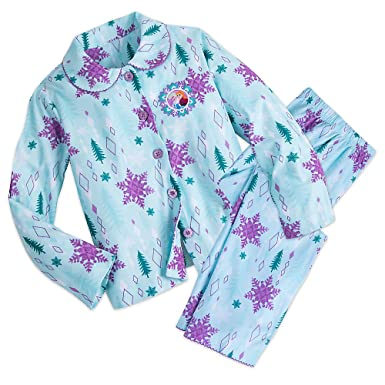 ad0e77c4d Amazon.com  Disney Frozen Anna and Elsa Flannel PJ Set for Girls ...