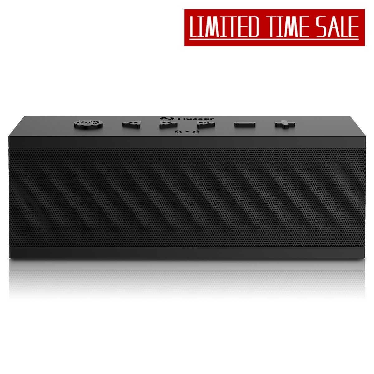 HUSSAR Bluetooth Speakers, 16W Portable Wireless Speaker, Premium Sound Enhanced Bass Selectable Sound Effects, IPX5 Waterproof, Built-in Mic Siri Hussar Inc mbox_pro