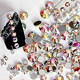 Jollin, strass da incollare con base piatta, in vetro con taglio a diamante, Crystal AB, SS20 1440pcs
