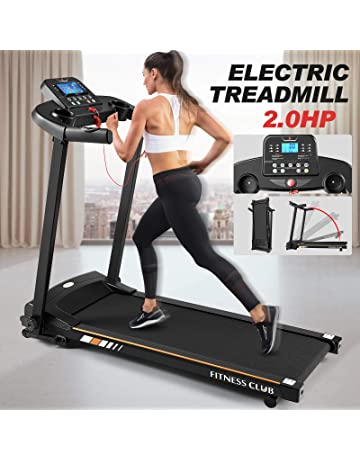 Fitnessclub Bluetooth Treadmill 1500 W Folding Electric Motorised Walking Running Exercise Fitness Machine Adjustable Incline Emergency System Hand Grip Pulse Sensor IPad & Cup Holder 12 Pre-Programs