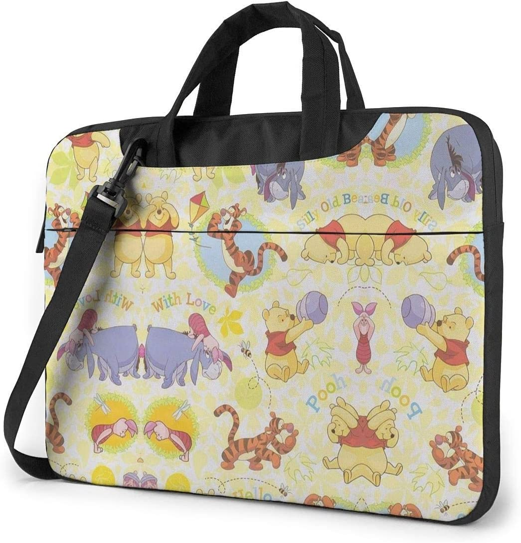 13 Inch Laptop Bag Love Winnie The Pooh Laptop Briefcase Shoulder Messenger Bag Case Sleeve
