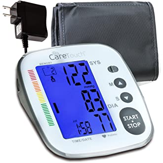 #14 Care Touch Blood Pressure Monitor with AC Adapter - Fully Automatic Upper Arm Digital BP Cuff