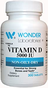 Vitamin D-3 5,000 Iu Dry Vitamin D-3 Nutritionally Supports a Healthy Immune System, Strong Bones, and Teeth