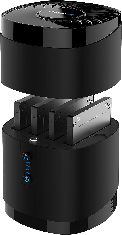 Sabrent station d'accueil USB 3.0 avec ventilateur, dotée de 4 emplacements pour disques durs/SSD de 2,5 pouces. (DS-4SSD)