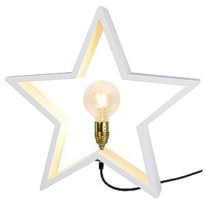 Star Trading LYSeKIL - Iluminación decorativa (Color blanco, Interior, Corriente alterna, E27, Madera, IP20)