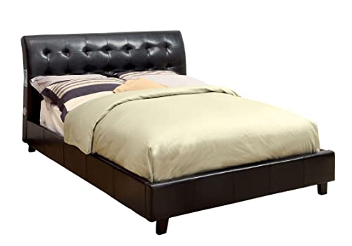 Furniture of America Mason Leatherette Platform Bed