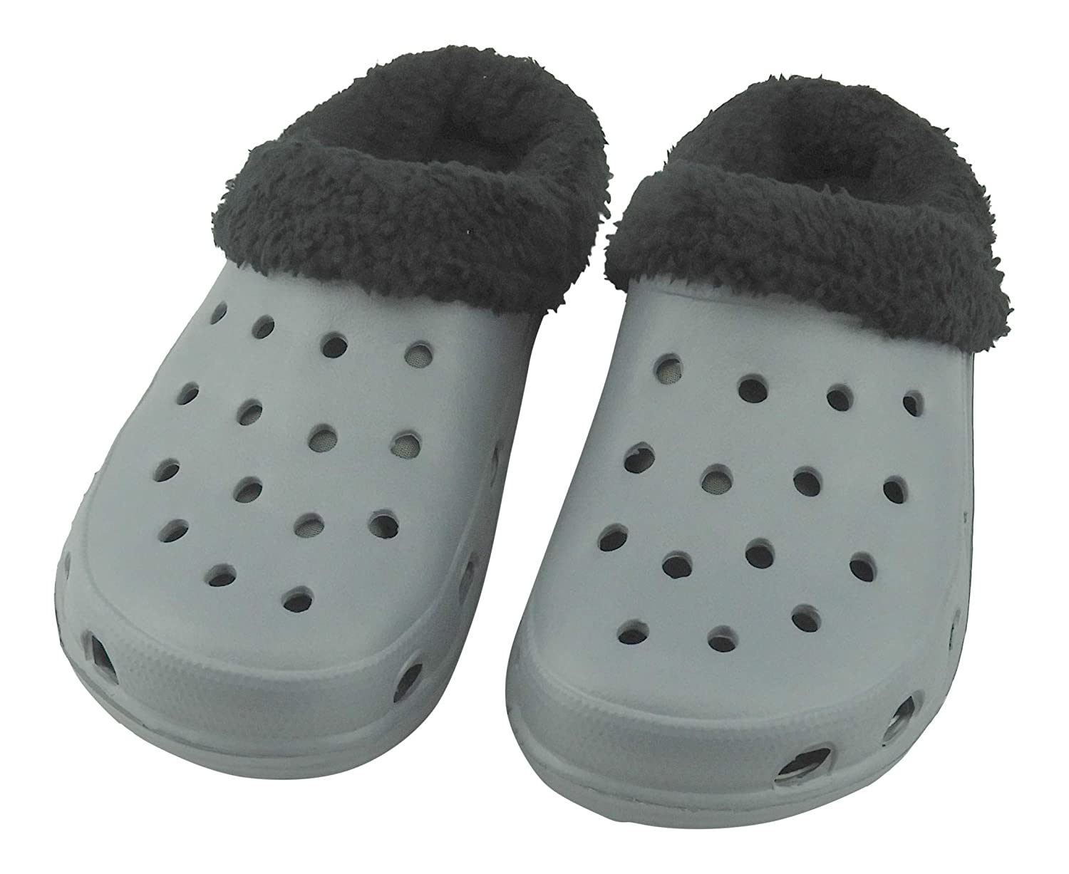 DINY Home & Style Men's Sherpa Fleece Lined Clogs Indoor Outdoor Comfort