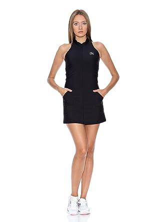 Naffta Vestido Tenis/Padel Negro/Lila L: Amazon.es: Ropa y ...