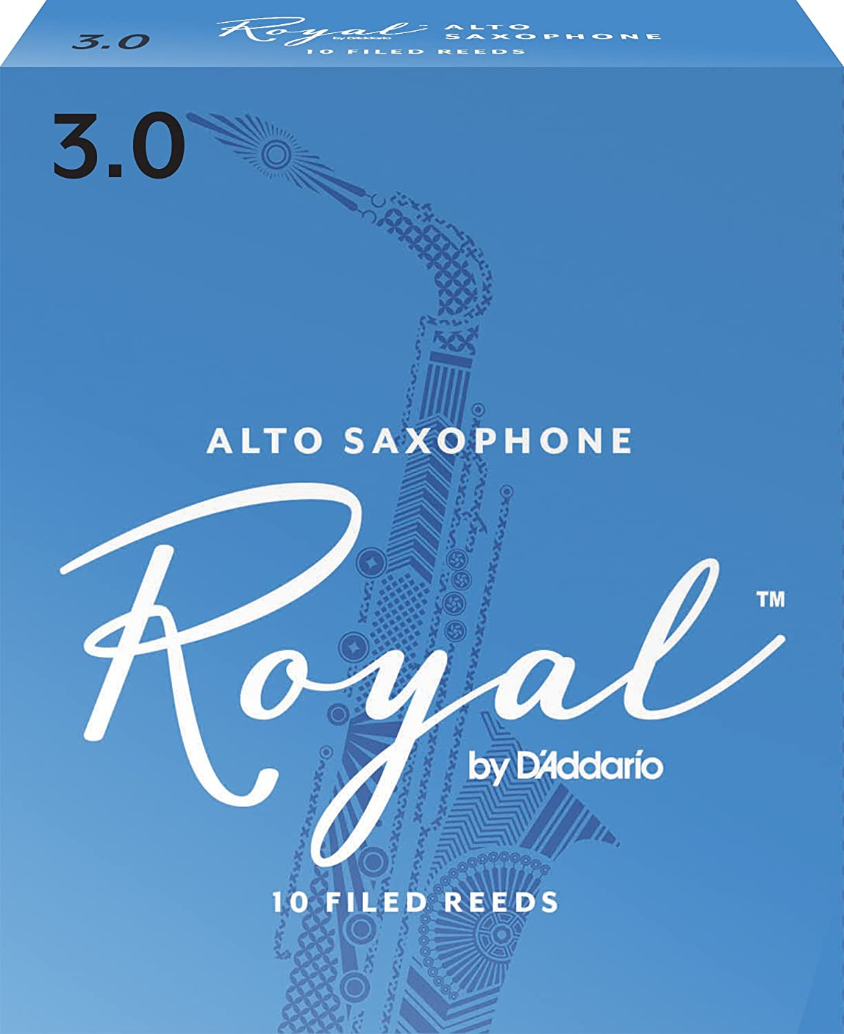 Rico Anches Rico Royal pour saxophone alto, force 4.0, pack de 10 D' Addario Ltd RJB1040