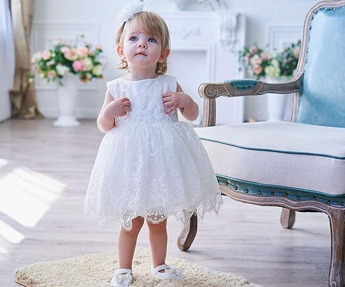 AHAHA Vestidos de Boda de la Princesa del Bebé Bautizo Vestido de Fiesta de Cumpleaños del Bebé: Amazon.es: Ropa y accesorios