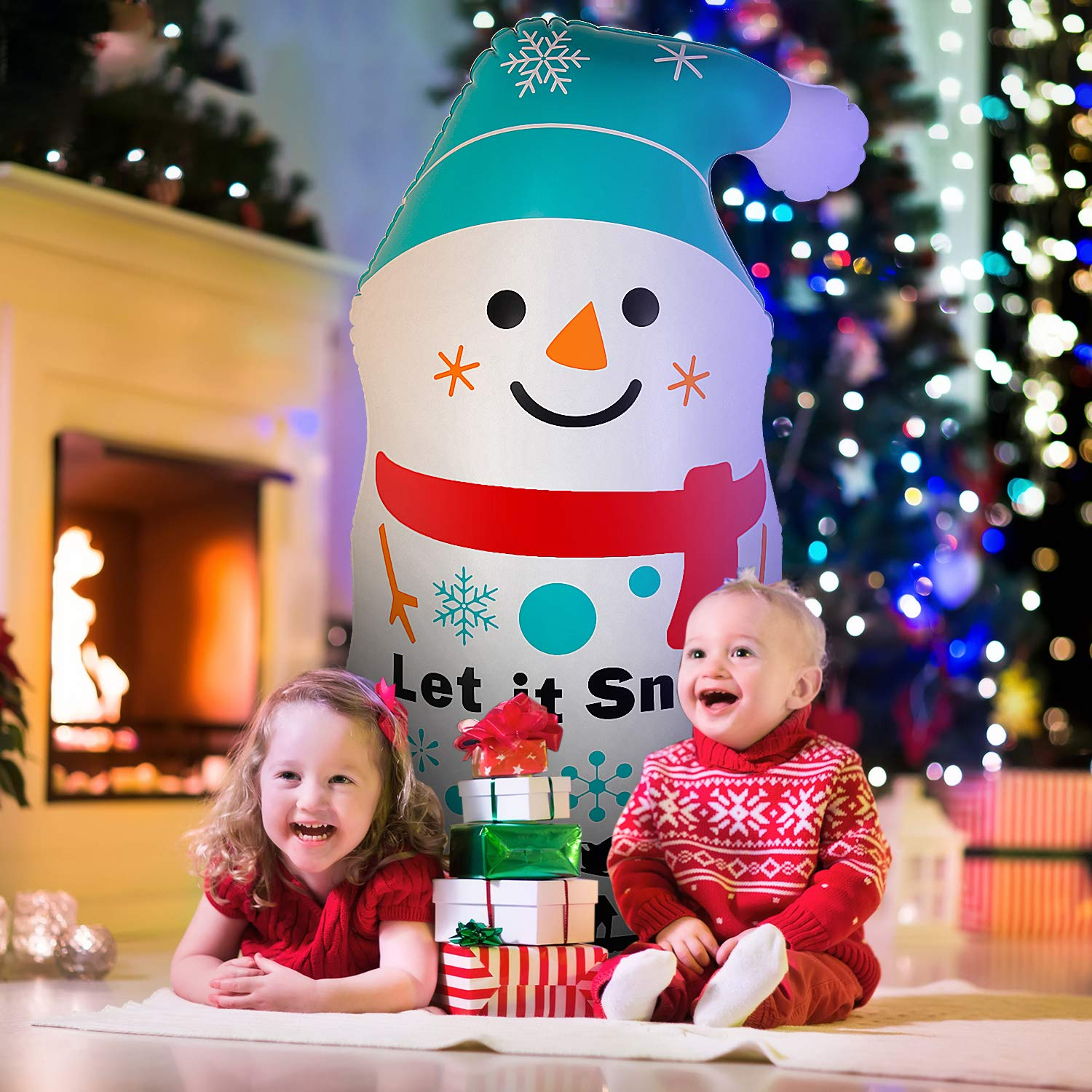 Aywewii Christmas Inflatable Snowman Tumbler, Inflatables Christmas Decorations, 3.8 FT Inflatable Snowman for Christmas and New Year Home Indoor Outdoor Holiday Yard Decorations