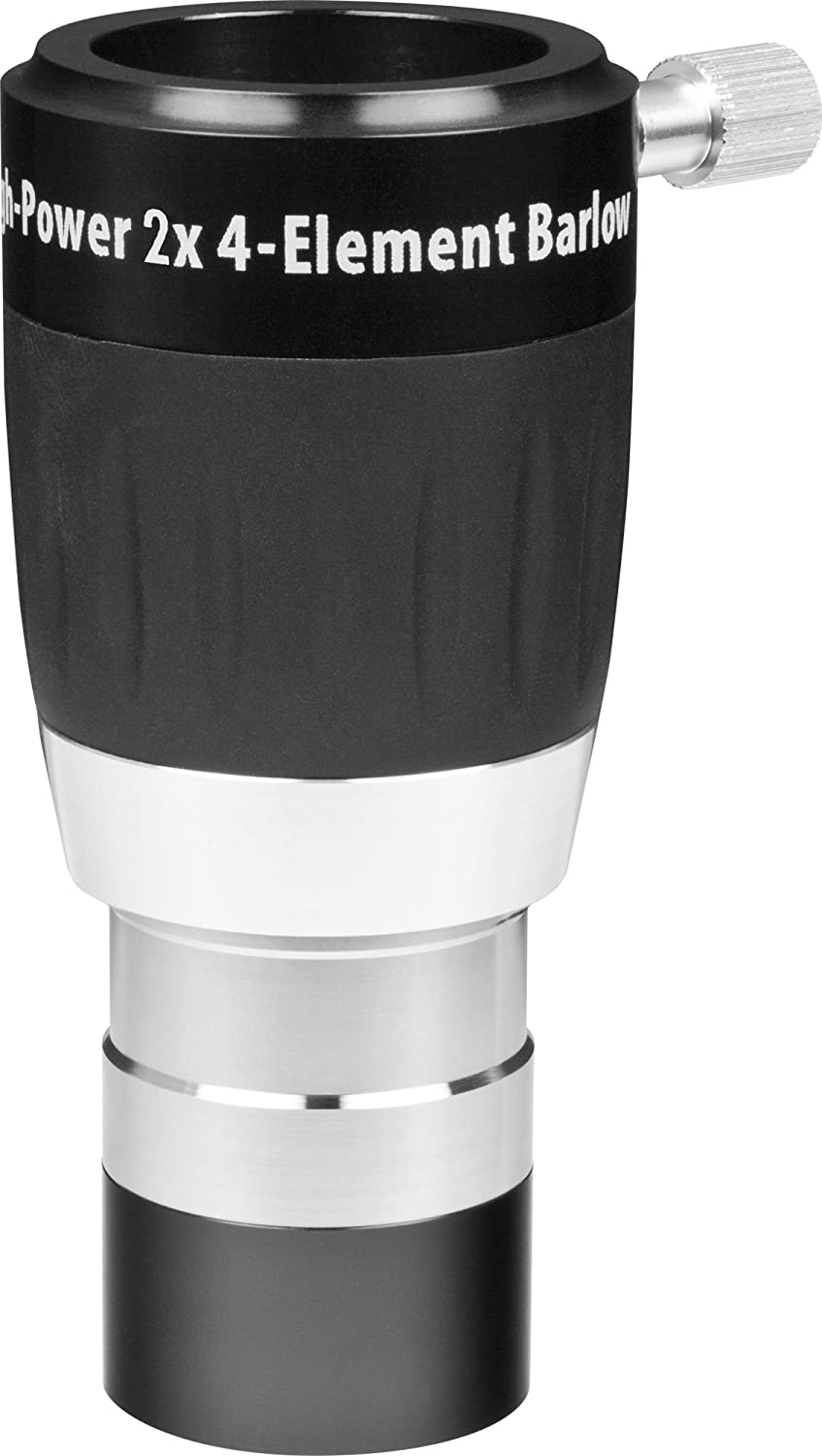 High-Power 1.25 Inch 2x 4-Element Barlow Lens Orion 08470
