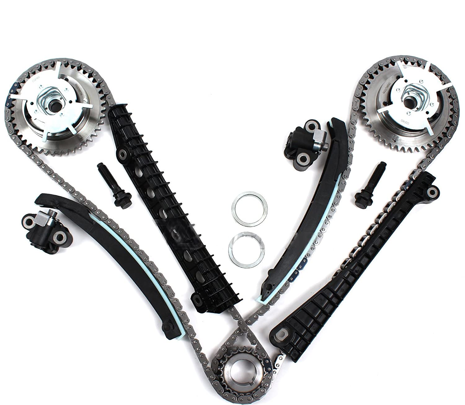 Tk3060 Vvt Timing Chain Kit Camshaft Phasers With 2002 Jeep Liberty 37 Have You Got A Diagram For The Engine Mounting Bolts Both Left Right Side 04 08 Ford 54l 3 Valve Expedition F 150