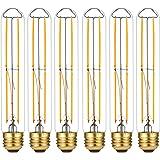 LiteHistory Dimmable E26 Light Bulb 6W Equal 60 watt led Light Bulb AC120V Warm White 2700K Edison Light Bulbs 60 Watt 600LM