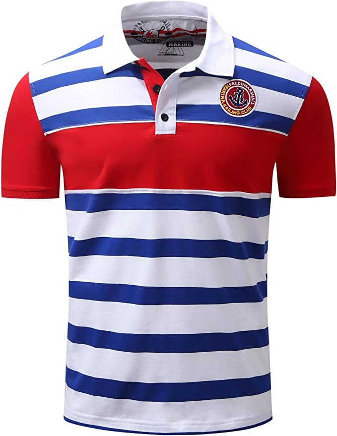 KH5GJ-25 Mens Rugby Short Sleeves Polo Shirts