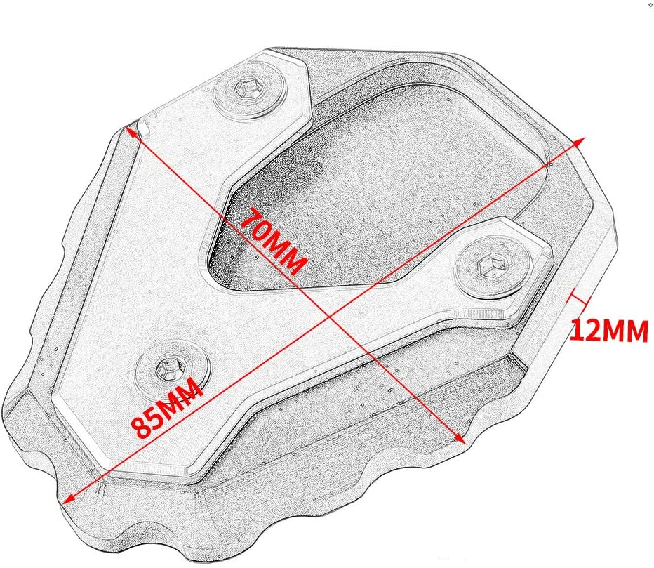 Titan LoraBaber Motorradfu/ß Seitenst/änder Erweiterung St/änder Pad Platte Anti-Rutsch-Seitenst/änder Pad f/ür Honda 2019-2020 CB500X CB 500X CB 500 X