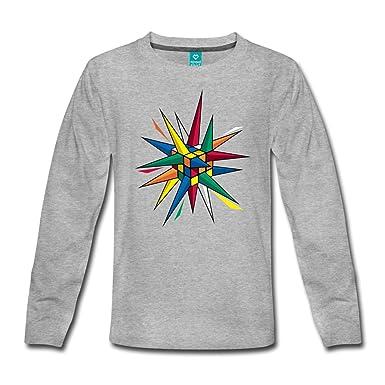 2ec7a404cd5be Spreadshirt Rubik s Cube Hérissé De Piquants T-Shirt Manches Longues Premium  Ado  Amazon.fr  Vêtements et accessoires