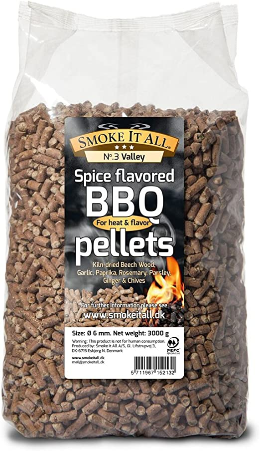 Smoke It All 63203 - Pellets para barbacoa (madera de haya con ...
