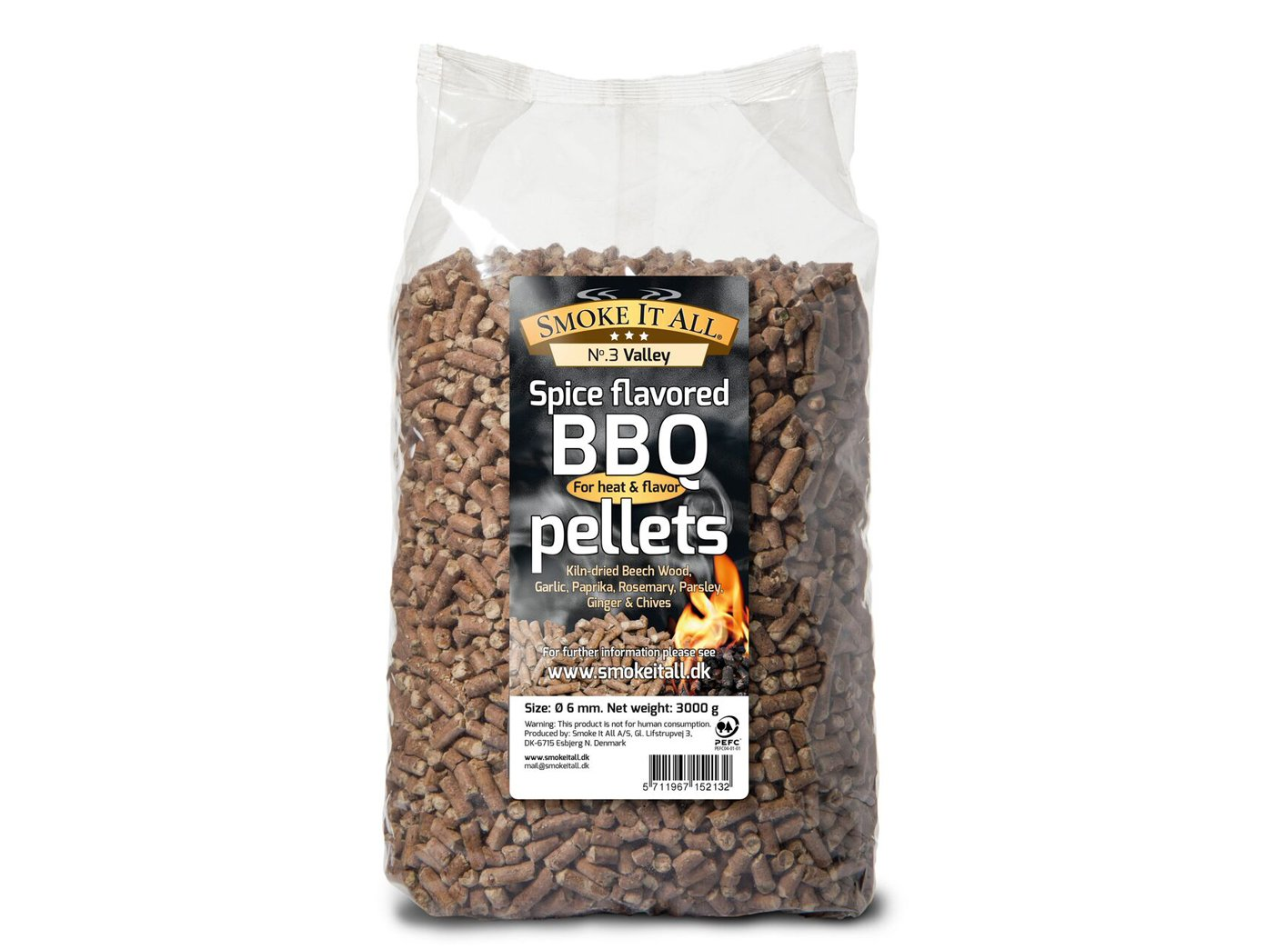 SMOKE IT ALL - BBQ Grill pellets Smoked pellets beech with spices 3,0 kg; 63203