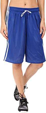 adidas Women s Basketball Mesh Shorts Collegiate Royal Blue White Shorts a97de3771