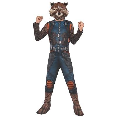 Rubie's Marvel Avengers: Endgame Child's Rocket Raccoon Costume & Mask, Large: Toys & Games