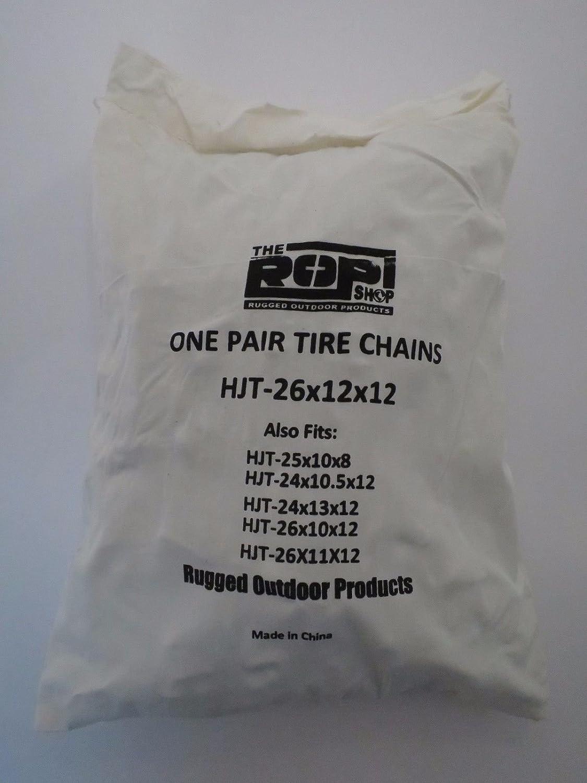 PAIR 2 Link TIRE CHAINS 26x12x12 fits many Yamaha Grizzly Kodiak Raptor ATV Quad