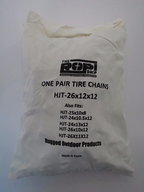 Par 2 enlace cadenas de neumáticos 26 x 12 - 12 para tractor ...