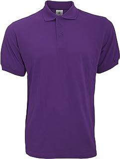B&C Safran Mens Polo Shirt / Mens Short Sleeve Polo Shirts (M) (Burgundy)