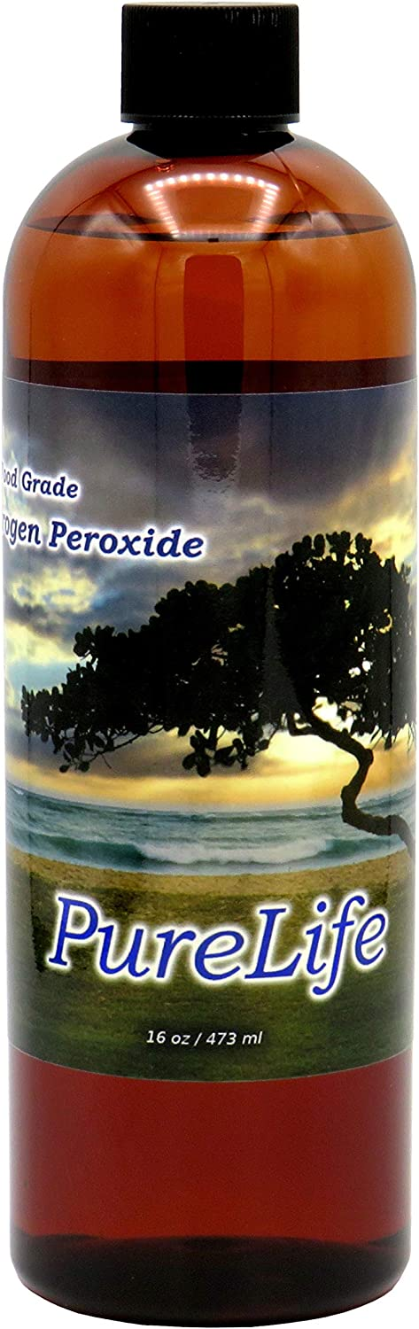 PureLife™ 12% Hydrogen Peroxide Food Grade with No Added Stabilizers - in Distilled Water (16 Oz)