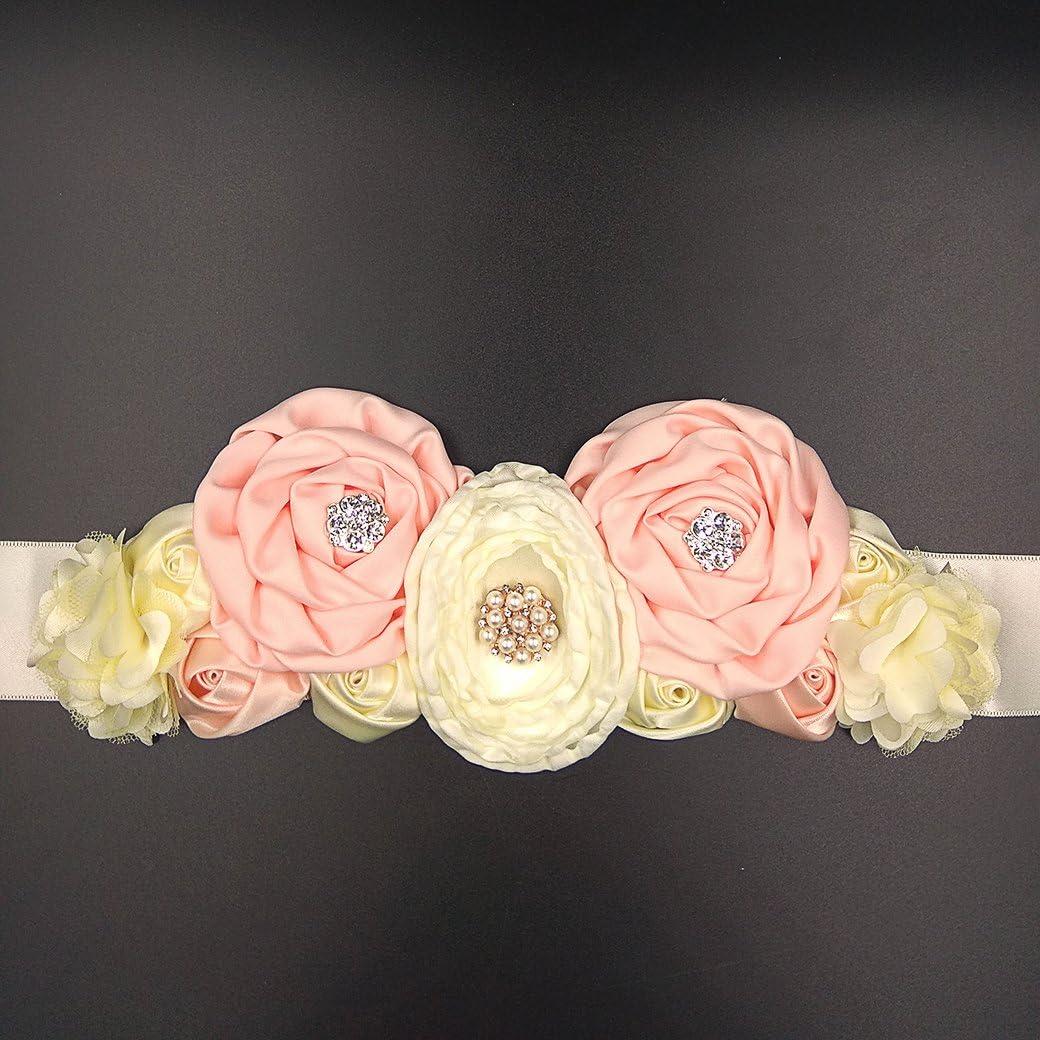 Set of Hairband /& Belly Band Flower Belt PhotoShoot Pregnancy Pregnancy Shoot Maternity Sash Belt Props Maternitysash