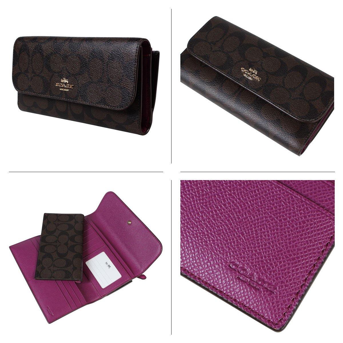 0c953473b8631 Galleon - Coach Signature PVC Coated Canvas Checkbook Wallet