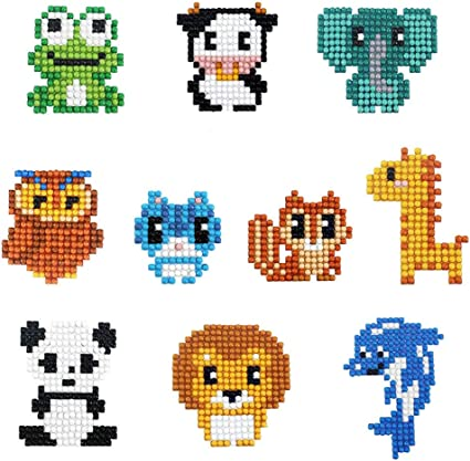 N//X 5D Diamond Sticker for Kids,Mosaic Sticker by Numbers Kits Arts and Crafts Set for Children