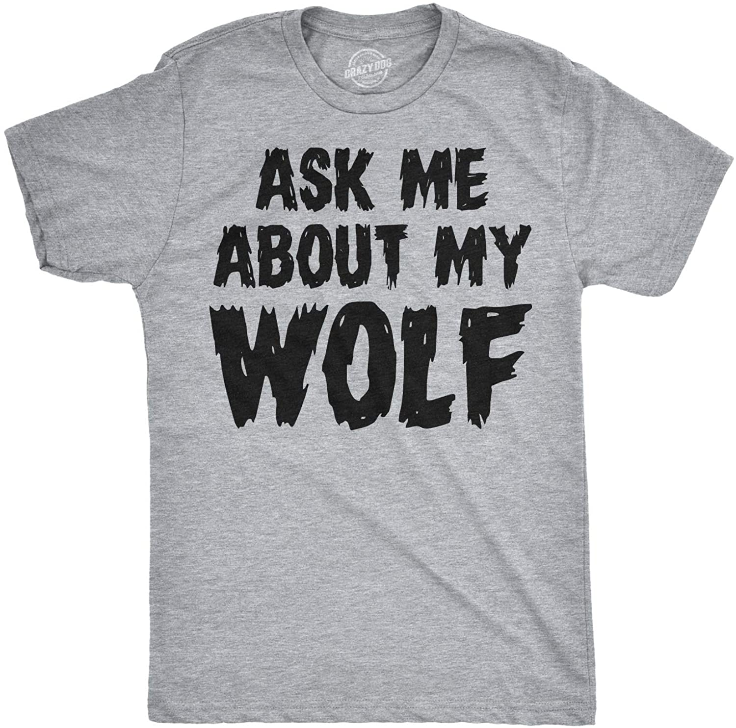 Crazy Dog Tshirts Youth Ask Me About My Wolf Awesome Flip Shirt for Kids