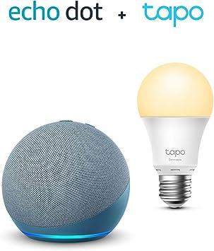 Der Neue Echo Dot 4 Generation Blaugrau Tp Link Tapo Smart Lampe E27 Funktionert Mit Alexa Alle Produkte