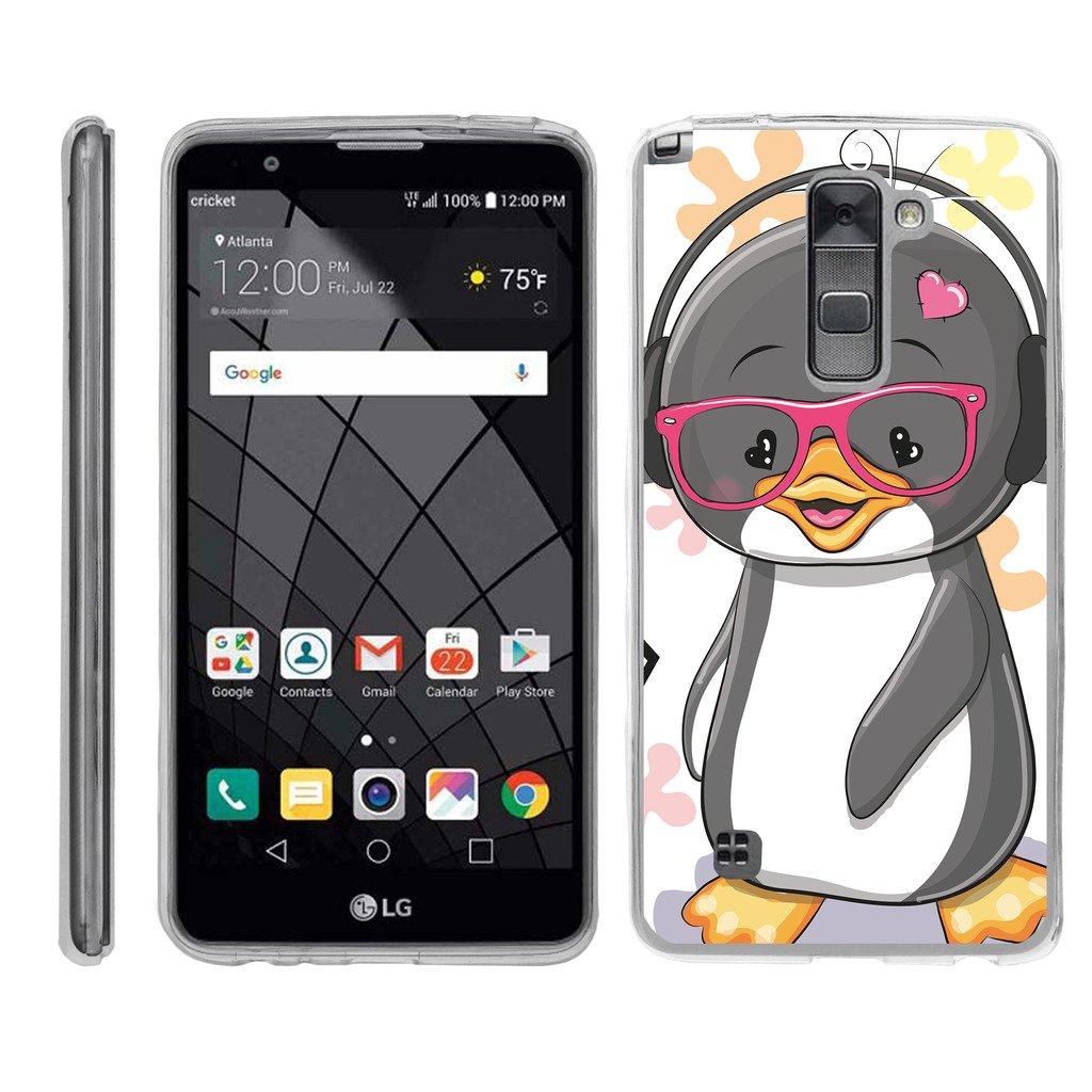 TurtleArmor | LG Stylus 2 Case | LG G Stylo 2 Case [Flexible Armor] Ultra Slim Compact Clear Flexible TPU Case Fitted Soft Bumper Cover Animal Design - Cute Penguin