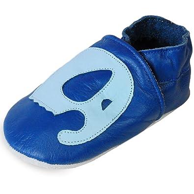 bleu S chaussons chaussures de bebe anti glissantes ZAGUKX