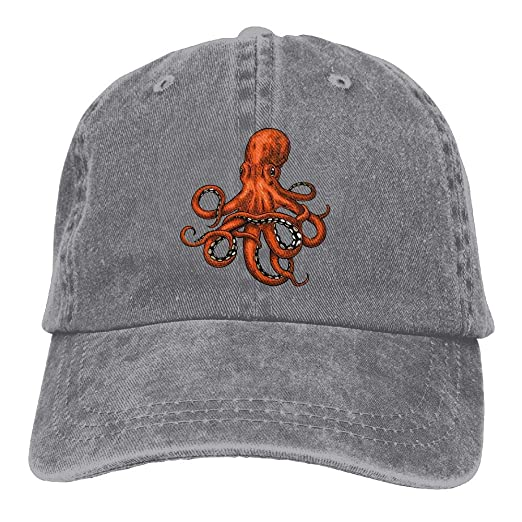 55a0d50093e Amazon.com  Ruin Octopus Basketball Printing Cowboy Hat Fashion Baseball Cap  for Men and Women  Clothing