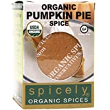 Spicely Organic Seasoning Pumpkin Pie Spice 0.35 Ounce ecoBox Certified Gluten-Free
