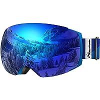 OutdoorMaster Occhiali da Sci PRO da Donna&Uomo, Occhiali da Snowboard con Sistema di scambio Magnetico, Protezione UV400
